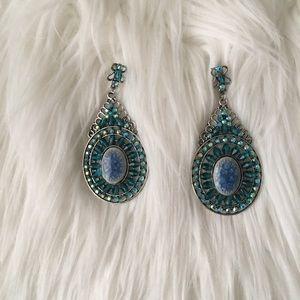 Earring Blue Cristal